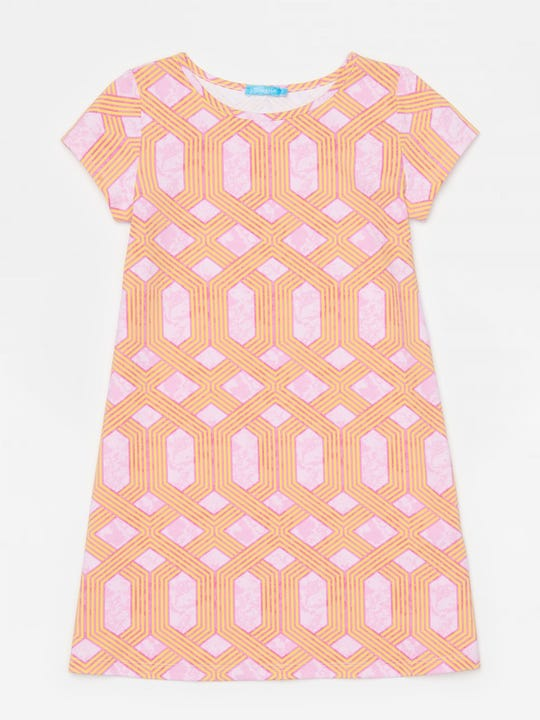 Girls' Swing Dress in Mini Cabana