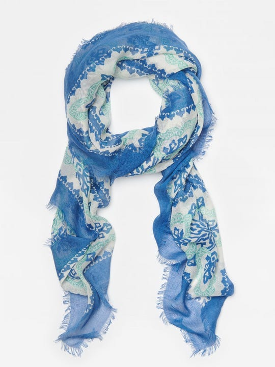 Giselle Scarf in Pinwheel Patch
