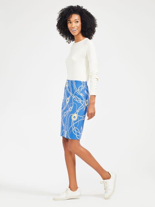 Halle Reversible Skirt in Togglewood Splatter