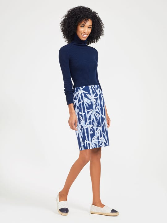 Halle Reversible Skirt in Prism Palm Texture