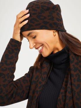 Cheetah Jacquard Hat