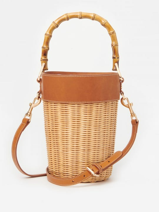 Erin Wicker Bucket Bag