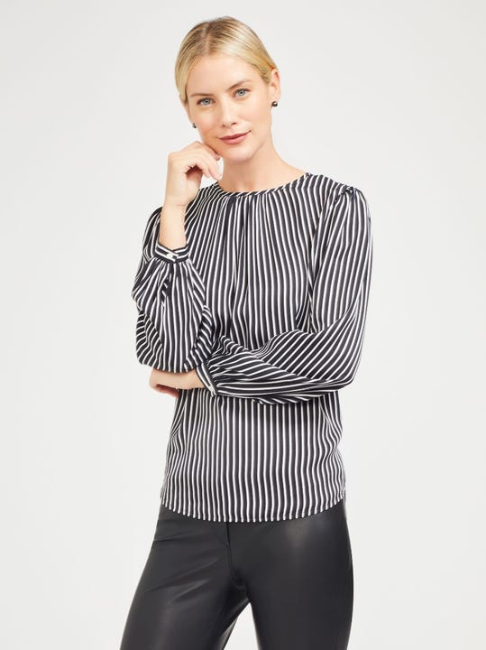 Hermona Blouse in Neo Gala Stripe