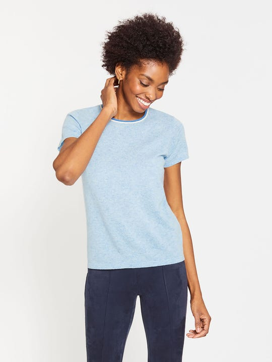 Holly Cashmere Short Sleeve Tee