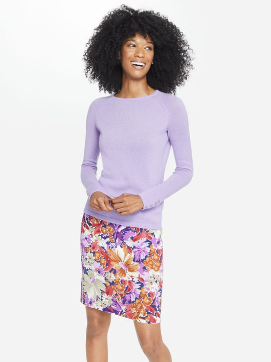 Halle Reversible Skirt in Palmer Floral Geo