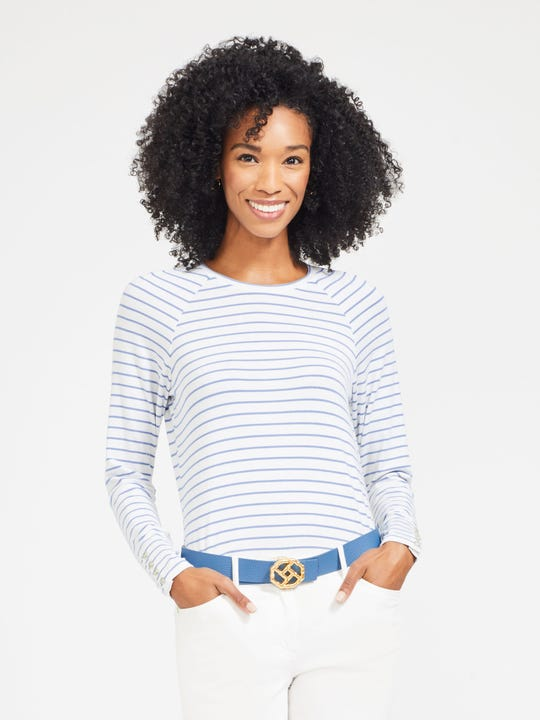 Jana Top in Riverside Stripe