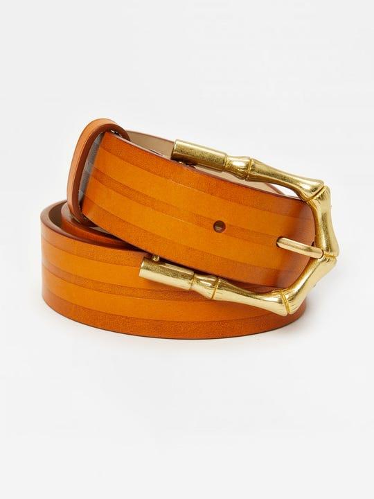 Jayla Leather Belt in Stripe