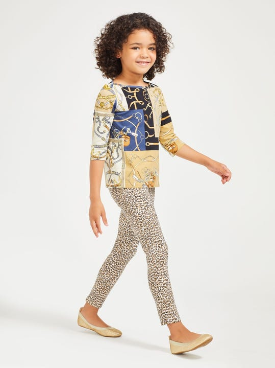 Girls' Jojo Leggings in Micro Animal