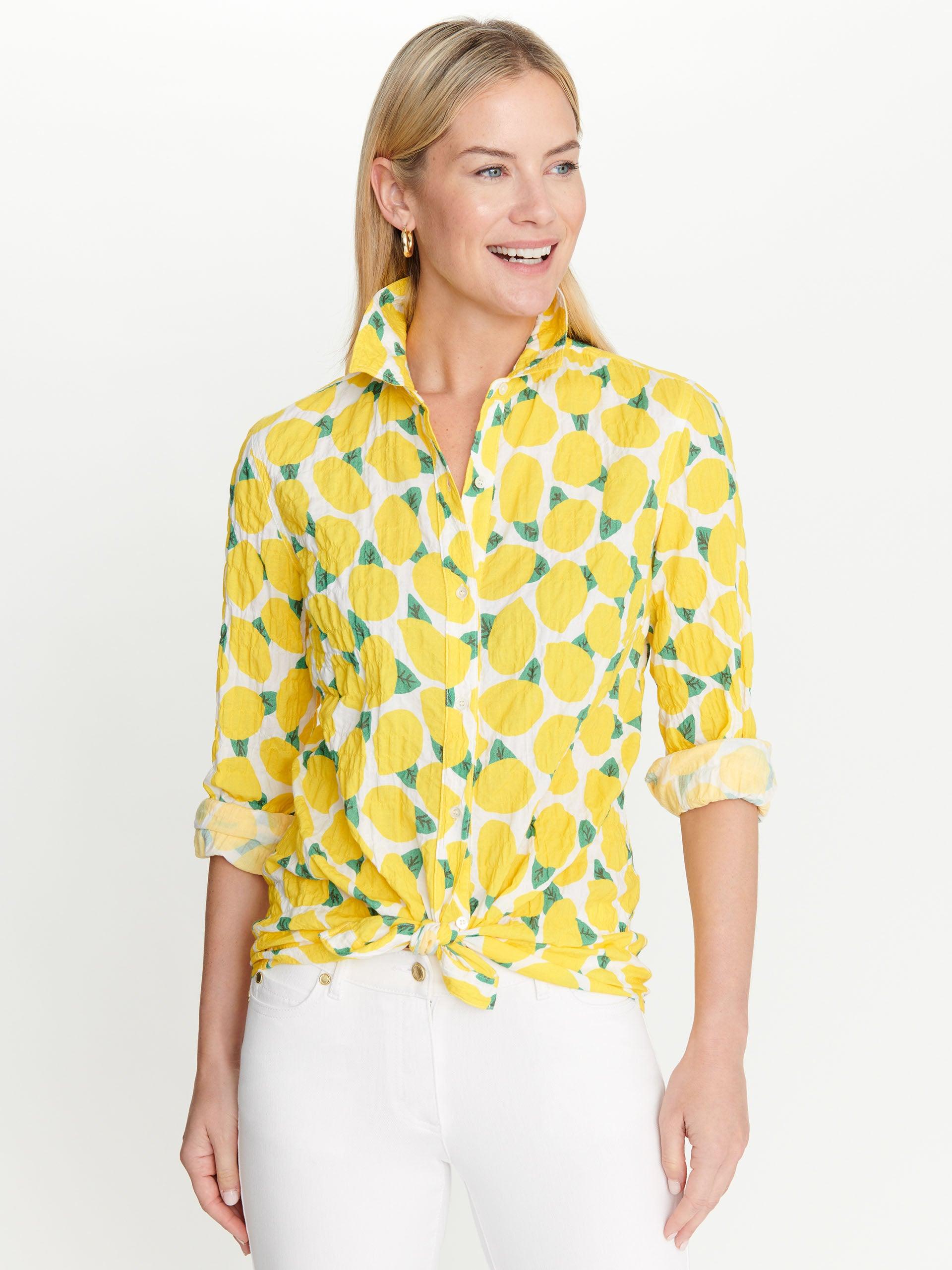 Quatrefoil,Short Sleeve T Shirt Trellis in Yellow,Printed T-Shirt Casual Tops Tee