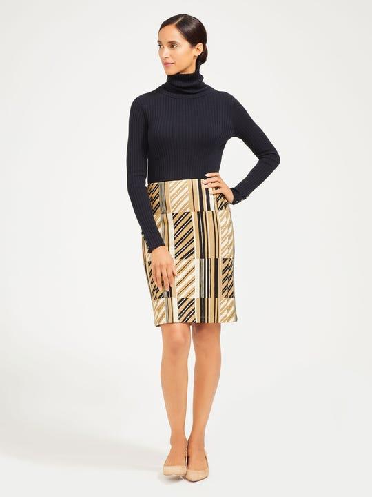 Lucy Skirt in Tie Stripe