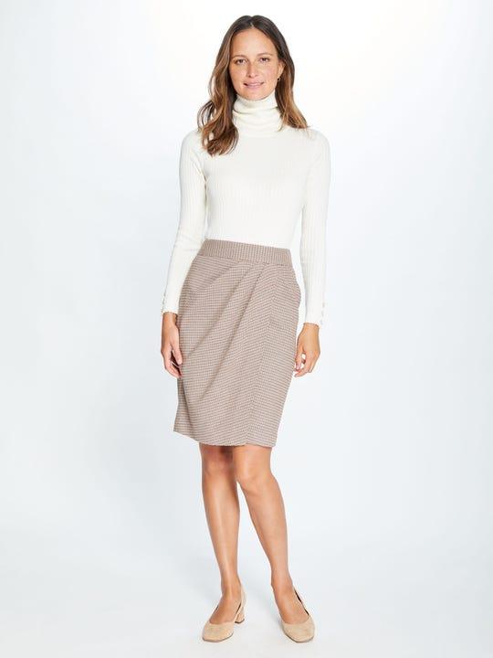 Maddie Skirt in Houndstooth