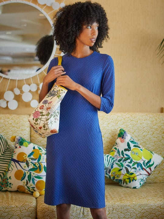 Catalyst Dress in Diamond Geo Jacquard