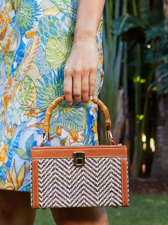 Caitlyn Box Bag in Chevron