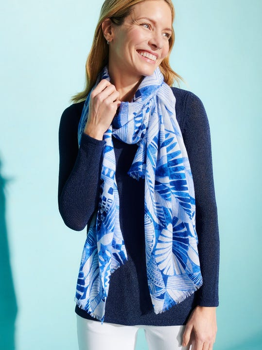 Reed Scarf in Royal Palm