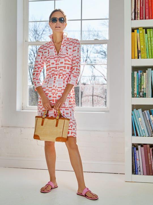 Brynn Dress in Block Geo