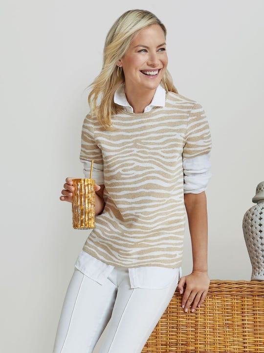 Morrison Sweater in Mega Lateral Woody
