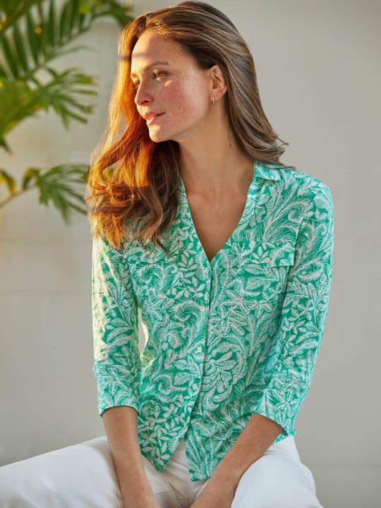 Brynn Linen Shirt in La Treille