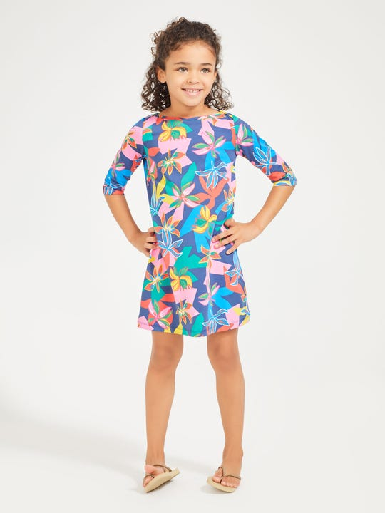 Girls' Mari Dress in Island Blossom