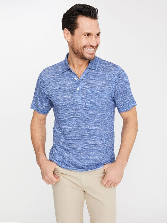 Marlon Linen Polo in Seawall