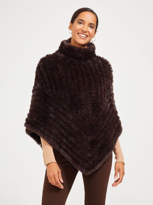 Meg Faux Fur Poncho