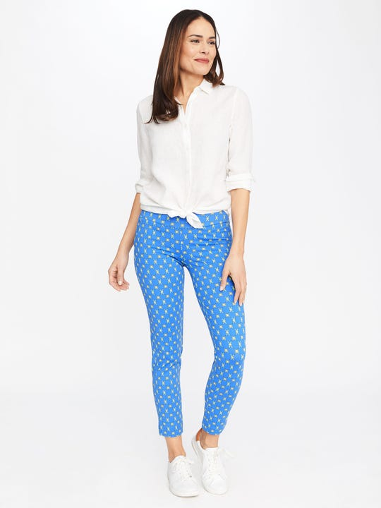 Newport Capri Pants in Sussex Interlock