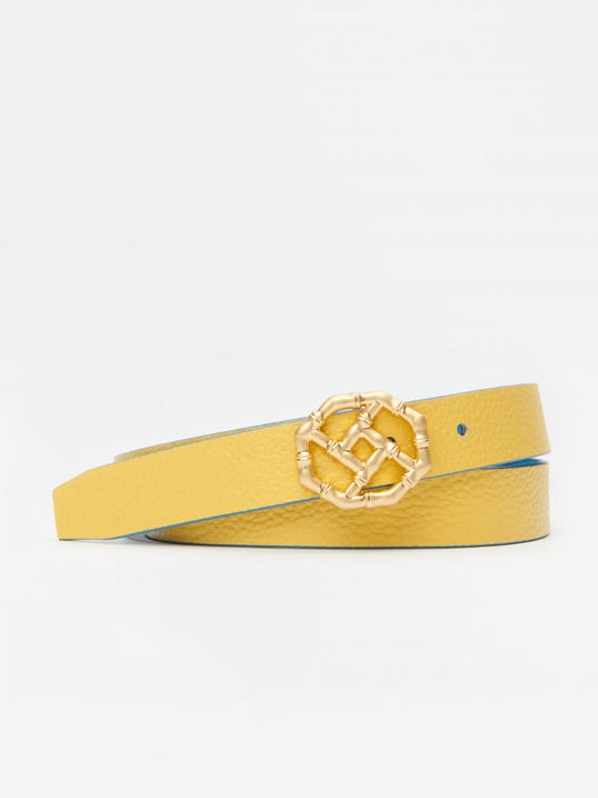 Nora Reversible Skinny Leather Belt