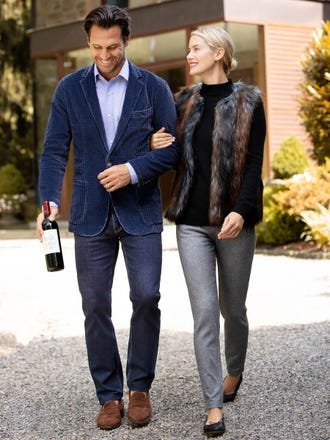 Cordina Faux Fur Vest in Ombre Jacquard