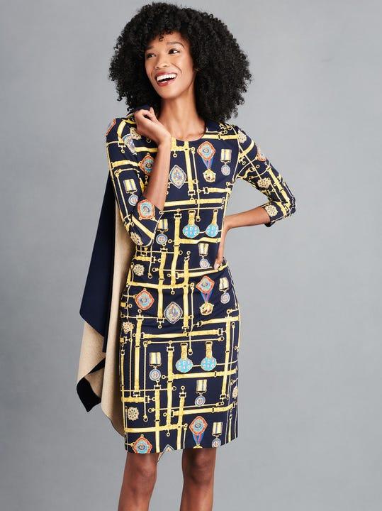 Sophia Dress in Belted Majesty