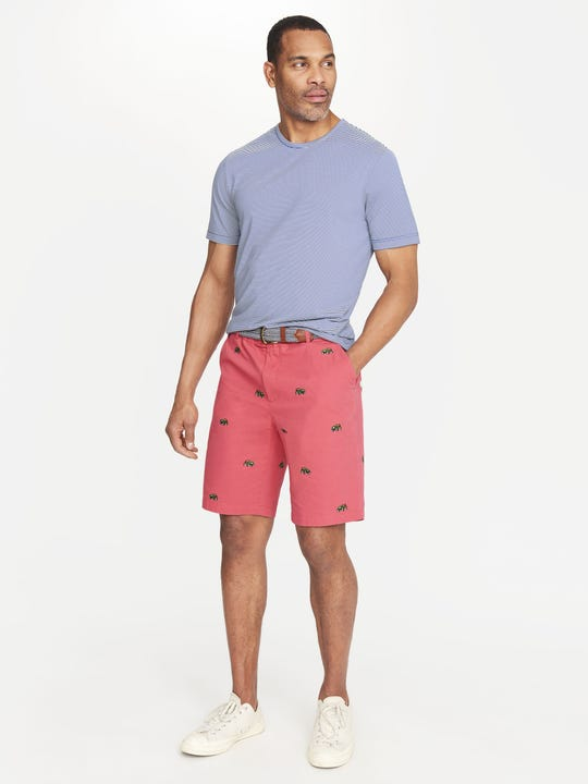 Oliver Embroidered Shorts in Jeep