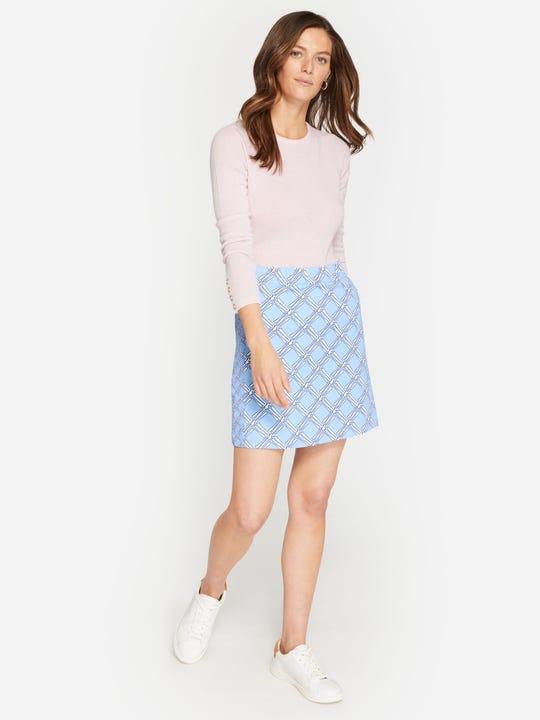Palm Spring Skirt in Trellis Bias Geo