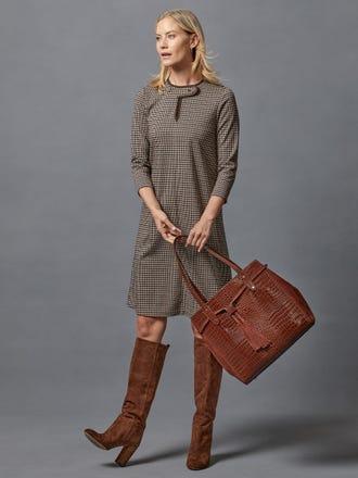 Penelope Dress in Houndstooth