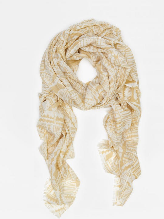 Reed Scarf in Geo Palm