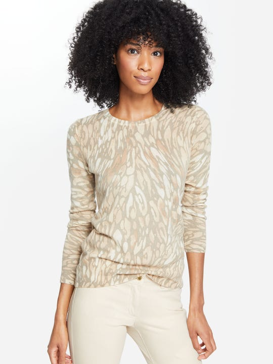 Sancerre Cashmere Sweater in Watercolor Panthera