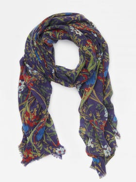 Reed Scarf in Midnight Floral