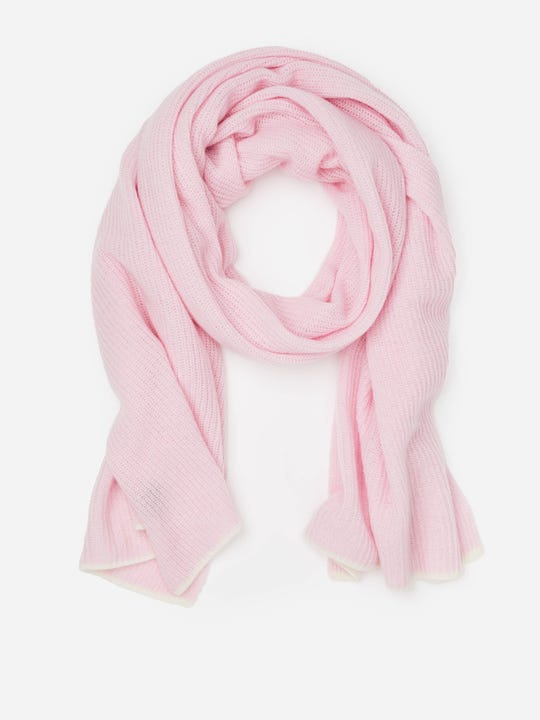 J.McLaughlin Tammy scarf in light pink/off white made with cashmere.