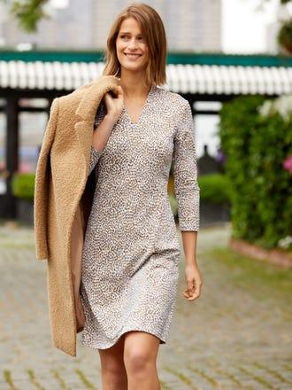 Ivana Dress in Micro Animal