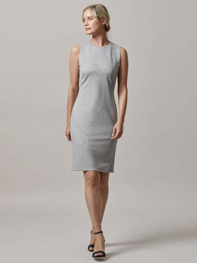 Devon Sleeveless Dress in Birdseye