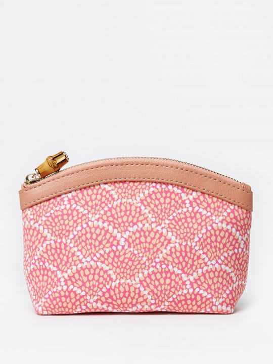 Small Cosmetic Bag in Fanned Blossom