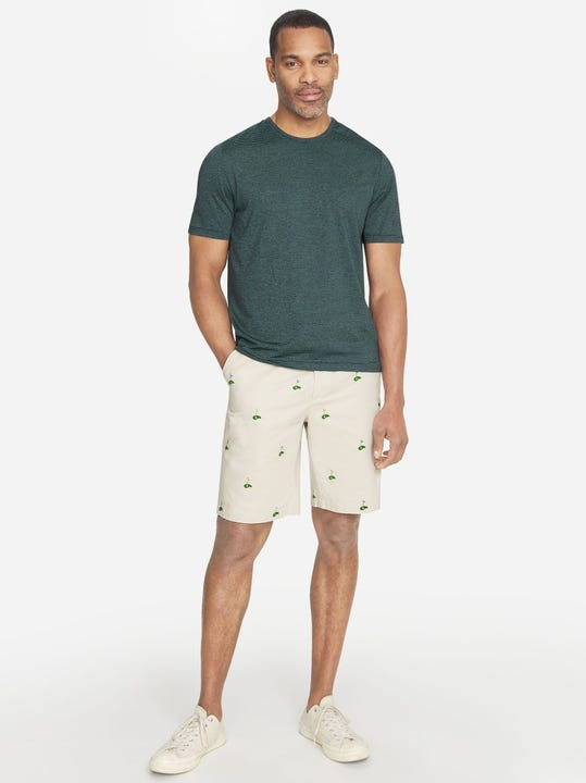 Oliver Embroidered Shorts in Golf