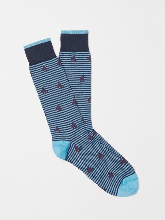 Stripe and Catboat Socks