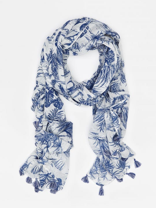 Tapestry Scarf in Heron Toile