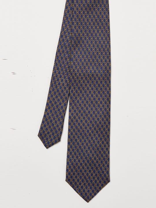 Italian Silk Tie in Chain Link Mini