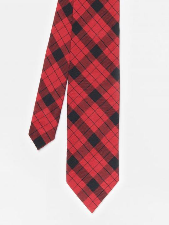 Cotton Tie in Plaid