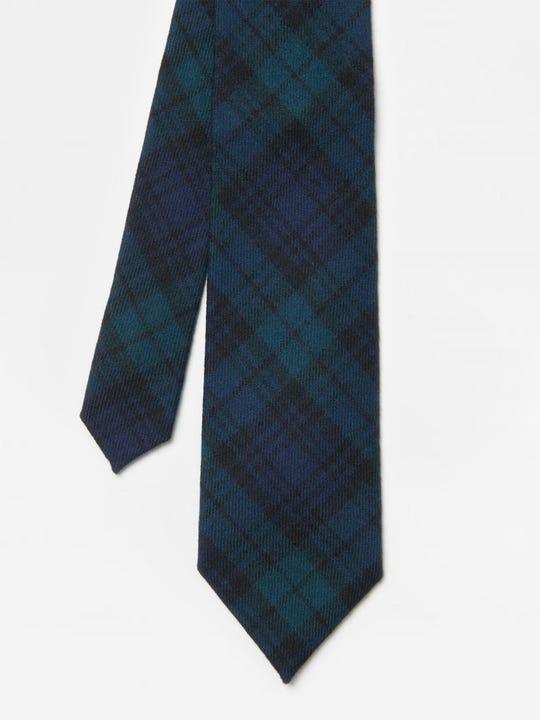 Wool Tie in Plaid