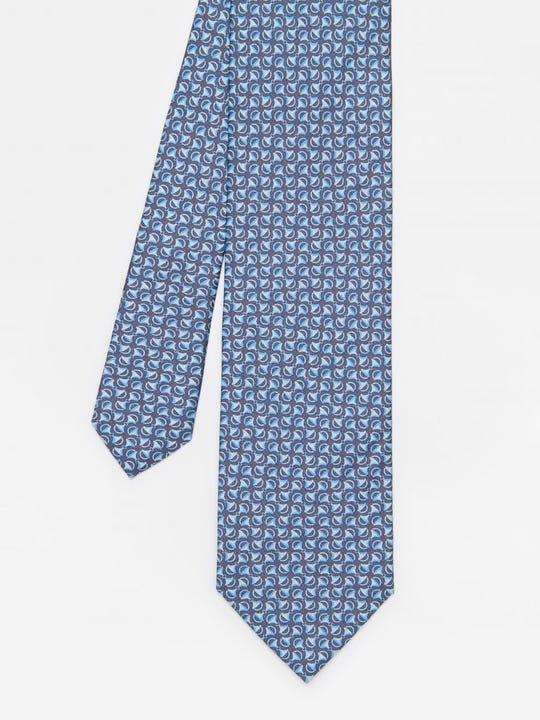 Italian Silk Tie in Mini Horsebit