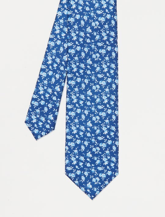 Italian Silk Tie in Watercolor Rose