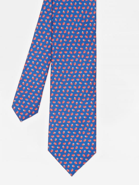 Italian Silk Tie in Strawberry