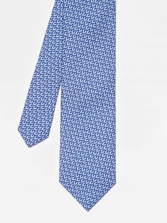 Italian Silk Tie in Horseshoe Pendant