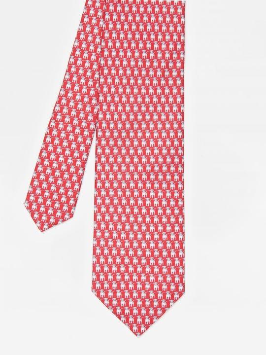 Italian Silk Tie in Baby Beagle