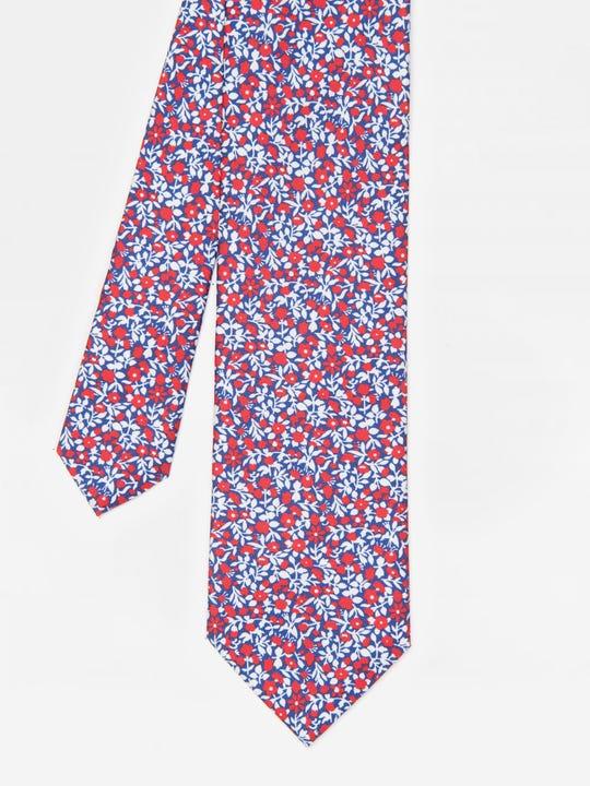 Italian Silk Tie in Micro Flower